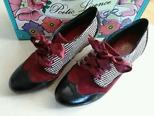 Poetic Licence, Irregular Choice, End of Story, Black/Red UK 5.