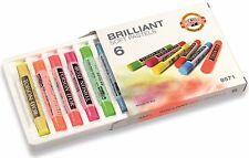 KOH-I-NOOR TOISON D'OR Softpastell Pastellkreide Brillant 6 Neonfarben Neon