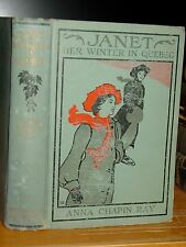 1906 Janet: Her Winter In Quebec, Canada, Uplifting Story For Girls Antique Book