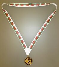 Wales Winners Medal - Gold Metal Medal With Welsh Flag Lanyard (MI3)