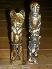 ancienne  paire statuettes art primitif african art african head