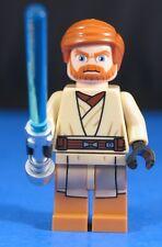 LEGO® STAR WARS™ 75012 OBI WAN KENOBI™ minifigure +Trans Blue Saber +Silver Hilt