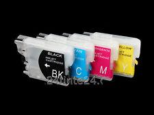 4 X Set Riempimento bare CARTUCCIA lc-985 LC 985 lc985 CISS miniciss PER BROTHER MFC j220 x4