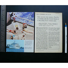 1965 vintage ad P&O Orient Canberra advertisement Oronsay Arcadia cruise ship