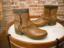Clarks Tan Brown Leather Riddle Avant Bendables Ankle Boot 6.5 NEW