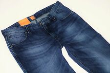 Nuevo-Hugo Boss Orange 63-w33 l34-Dark washed Denim-slim jeans 33/34