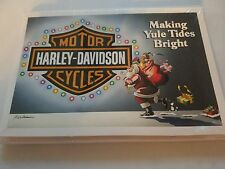 HARLEY DAVIDSON CHRISTMAS CARDS #X472 MAKING YULE TIDES BRIGHT HARLEY (10)