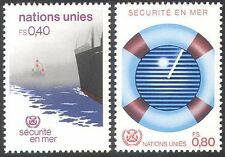 UN (G) 1983 Ship/Radar/Safety/Nautical/Maritime/Boats/Transport 2v set (n25270)