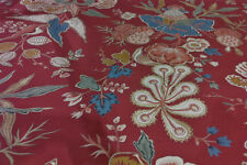 1.625 yd  Clarence House Drapery Upholstery Fabric R$250y Bangalore CL Red