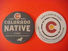 Beer Brewery Coaster: Colorado Native Lager ~ Born Brewed & Shared Local ~ Coors