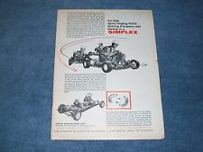 "1960 Simplex Go Kart Vintage Ad ""Nothing Compares with Karting in a Simplex"""