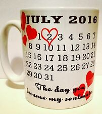 Personalised Calendar Mug - The Day you became my soulmate - Valentines Gift