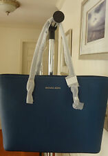 MICHAEL KORS Jet Set Travel Leather Top Zip Tote 30T5STVT2L NWT