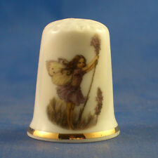Birchcroft China Thimble -- Lavender Fairy with Free Dome Gift Box
