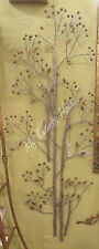 "61"" Tall FLOWERING BRANCH Iron Wall Art Metal NEIMAN MARCUS Long Silver Gold"