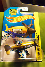 Hot Wheels Mad Propz Airplane Gold & Blue Landing Gear, WOW HTF Sweet Piece!!