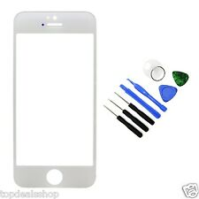 Replacement Front Outer Screen Glass Lens for Apple iPhone 5 5S 5C White Tools