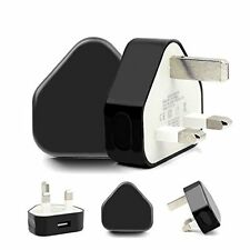 USB Plug Mains Wall Charger Adapter for Samsung Galaxy S7 S6 S5 S4 S3 S2 Black