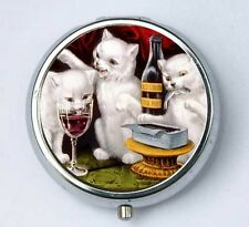 Thee Kittens Cats PILL CASE pillbox pill holder