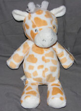 Carters Giraffe Orange White Plush Stuffed Lovey Baby Toy Small Floppy 63183 9""
