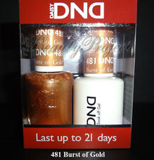 DND Daisy Soak Off Gel Polish Burst of Gold 481 full size 15ml LED/UV gel duo