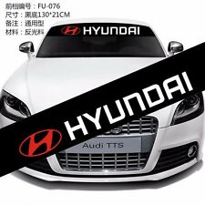 Front Windshield Banner Decal Car Stickers for Hyundai SPORTS Emblems