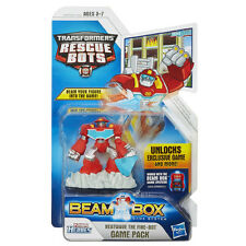 Transformers Rescue Bots HEATWAVE THE FIRE-BOT Figure Beam Box Game Pack