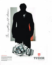 PUBLICITE ADVERTISING 025  2008  TUDOR  la montre chronograph