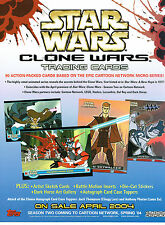 STAR WARS CLONE WARS PROMOTIONAL SELL SHEET
