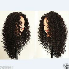 Lace Front Wigs New synthetic black long curly Heat Resistant Women's Hair wig