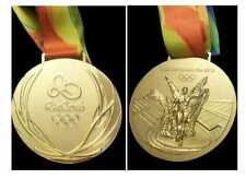 Rio 2016 Olympic 'Gold Medal' & Ribbon & Display Stand & Rio Pin