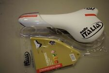 NOS Selle Italia TURBOMATIC Team Edition Carbon Rail Saddle Seat White/Red NIB
