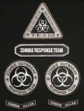 ZOMBIE OUTBREAK RESPONSE TEAM HUNTER UNIFORM SWAT OPS HOOK PATCH SET