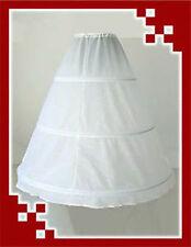 Reifrock 3 Ringe weiß A-line Brautkleid Tüllrock Unterrock Petticoat 110cm p3110