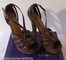 NIB Madden Girl Enclosed Womens Faux Leather Platform Sandals 9.5 Brown MSRP$60