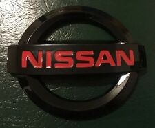 NISSAN 350Z 2003-2008 JDM BLACK RED JDM NISMO FRONT EMBLEM NEW GLOSS