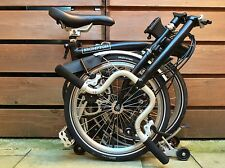 BROMPTON H-TYPE H6R BLACK RACK FOLDING BIKE BICYCLE - WORLDWIDE POSTAGE