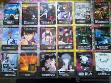 neoN genesis evangelion vending carddass pp cards trading cards lot lote de 18 c