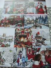 A4 Sheet of Card Toppers Santa Snowman Cottage Church Robin Train 12 pictures