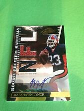 Marshawn Lynch 2007 Playoff Absolute RPM Rookie RC Auto Jersey Ball Card