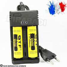 CHARGEUR RS-93 + 2 PILES ACCU RECHARGEABLE 18650 3.7v 12000mAH BATTERY BATTERIE