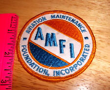 Aviation Maintenance foundation inc, embroidered patch cool collectible, AMFI