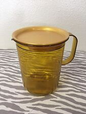 Tupperware Acrylic Pitcher 4 Cups Sheer Gold New Small Pitcher