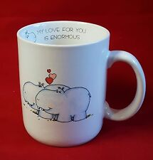 Vintage Valentine Mug Hippos Hearts My Love For You Is Enormous Papel Japan