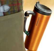 Starbucks Stainless Steel Clip Tumbler with Handler Burnt Orange 16oz NEW