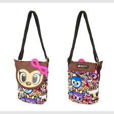 tokidoki Crossbody Bag Neon Star Owl Canvas Purse Adjustable Strap NWT