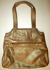 Authentic NEW MARC JACOBS TOTE GOLD BAG SHOPPER LEATHER SHOULDER HANDBAG PURSE