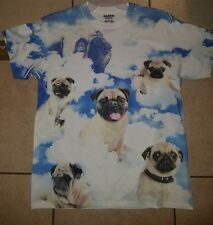 PUG dog Puppy SKY Clouds New FUNNY pet toy collar MEN'S T-Shirt Large