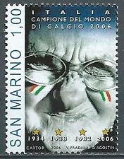 2006 SAN MARINO ITALIA CAMPIONE DEL MONDO DI CALCIO MNH ** - ED