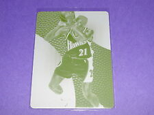 2012-13 Immaculate Dominique WILKINS #3 Yellow Printing Plate 1/1 Atlanta HAWKS